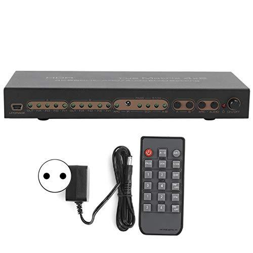 Shipenophy Convertidor de 100-240 V de Larga Vida útil, Altavoces de Barra de convertidor de Video de Matriz HDMI, para(European regulations)
