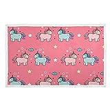 FULUHUAPIN Manta para mascotas, perro, gato, cachorro, diseño de unicornio, suave y cálida, con impresión esponjosa, para...