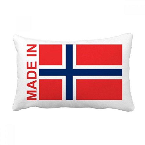 DIYthinker Hecho en Noruega Country Love Throw Almohada Lumbar Inserte la Cubierta del Amortiguador Inicio Sofá Regalo de la decoración