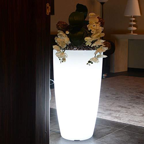Jardinière avec lumière LED RGBW 90 cm solaire et batterie rechargeable