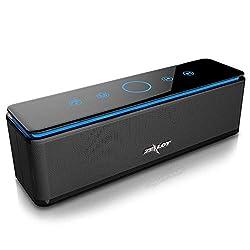 4 Haut-parleurs---ZEALOT S7 Enceinte Bluetooth, Une puissance de 26 Watts grâce à ses quatre haut-parleurs intégrés . Le son délivré se révèle clair et puissant avec un bon rendu des basses.La puissance sonore est largement suffisante pour animer une...