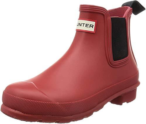 Hunter W Org Chelsea Rma, Botas de Agua para Mujer, Rojo (Military Red), 37 EU