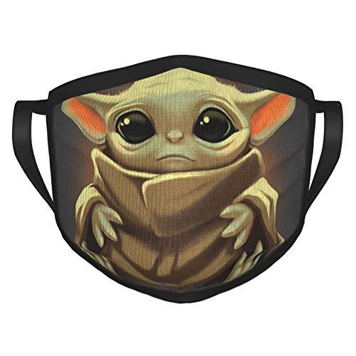Star Wars Baby Yoda Gesichtsmaske, wiederverwendbar, Stoff-Gesichtsmasken, waschbar, Bandana Gesichtsmaske, Sonnenstaubschutz, Sturmhaube, Gesichtsschutz, Schal zum Angeln und Radfahren