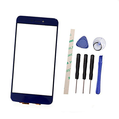 General Draxlgon écran Tactile de Remplacement Ecran Vitre Tactile pour Huawei P9 Lite 2017/Huawei P8 Lite 2017 Pra-LX3 PRA-LX1/Honor 8 Lite (Not LCD Display) with Adhesive (Not LCD) (Blue)