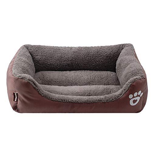ZZRA Cama de Perros Gatos Sofá Colchón de Espuma viscoelástica Perro Mascotas de Tejido de Felpa Cama de Almohada Lavable Resistente a los arañazos