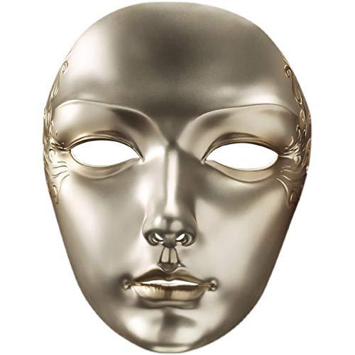 La Máscara Dorada Pintada Tridimensional del Noble Príncipe, El Misterioso Vestido De La Fiesta De Baile, Muestra Tu Confianza.