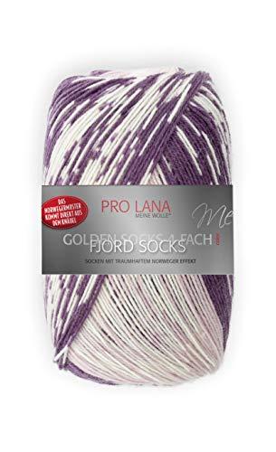 Unbekannt Pro Lana Fjord Socks 4-fädig Color 188 violett Altrosa Natur, Sockenwolle Norwegermuster musterbildend