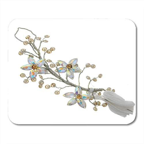N\A Alfombrillas de ratón Pendientes Caja de Plata Joyas Pulsera Broche Embrague Corona Diamante Alfombrilla de ratón para portátiles, Alfombrillas de Escritorio Material de Oficina