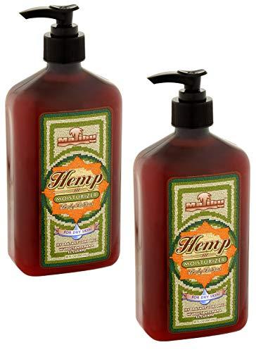 Malibu Tan Body Lotion for Dry Skin Hemp Moisturizer, 18 fl oz - 2-PACK