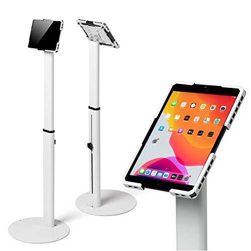 Tabdoq Soporte universal para tablet compatible con Samsung Galaxy y modelos de iPad de 7 a 13 pulgadas, color blanco