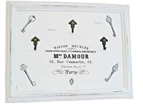 Schlüsselbrett im Bilderrrahmen 'DAMOUR' Unikat handmade
