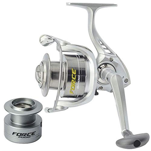 Molinete Pesca New Force 4000 FD 6 Rolamentos Carretel Extra