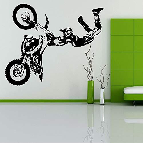 Wandtattoo Wohnzimmer Stunt Bike Motorrad X Spiele Mx Motocross Dirt Bike Grapic Creative Art Decal für Wohnzimmer Schlafzimmer