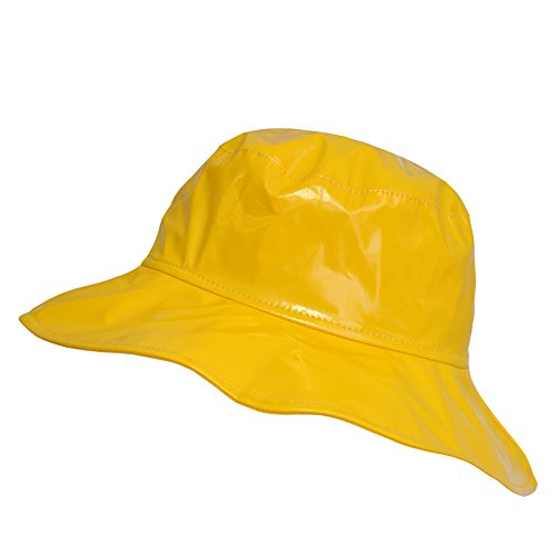 TOUTACOO, Wide-Brimmed Vinyl Rain Hat Yellow