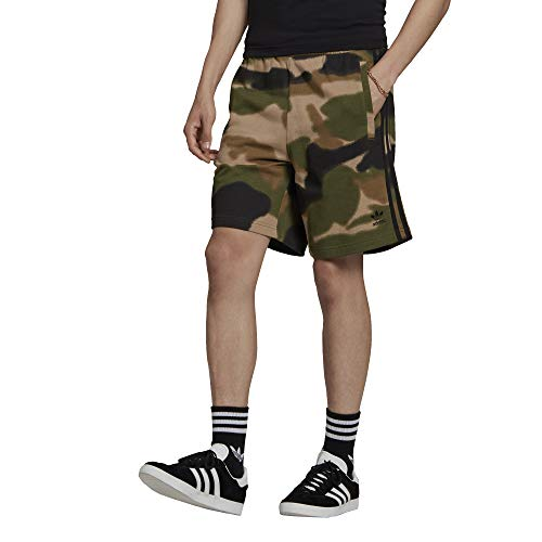 adidas Camo AOP Short Pantalones Cortos, Wild Pine/Multicolor/Black, XXL para Hombre