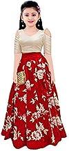 Valam Fashion Girl's Satin Semi-stitched Lehenga Choli