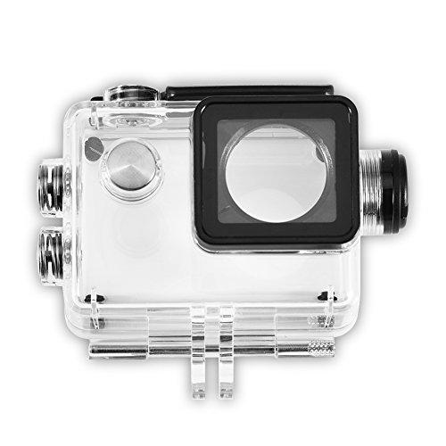 DAUERHAFT Estuche Impermeable para cámara, Accesorios de Carcasa Impermeable para cámara Deportiva con Cable de Carga para SJCAM SJ4000/SJ7000, para Buceo, Snorkel y Otras Actividades