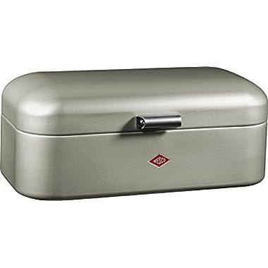 Wesco Grandy – German Designed - Steel bread box for kitchen / storage container, Silver