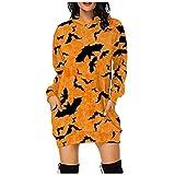 Halloween Mujer Suéter Largo SHOBDW Baratas Calabaza Patrón Divertido Camiseta Mujer Otoño Moda Pullover Talla Grande...