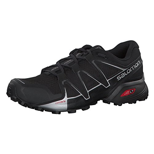 Salomon Speedcross Vario 2 Calzado de trail running Hombre, Negro (Black/Silver Metallic-X),...