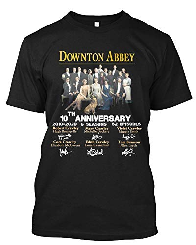 #Downton Abbey 10th Anniversary All cast Signed Movie Film Cinema T Shirt Gift Tee for Men Women