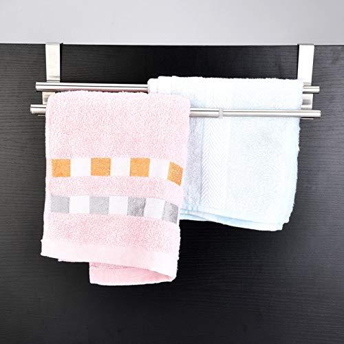 Toallero duradero de alta calidad, Toallero de doble capa, para baño para cocina casera