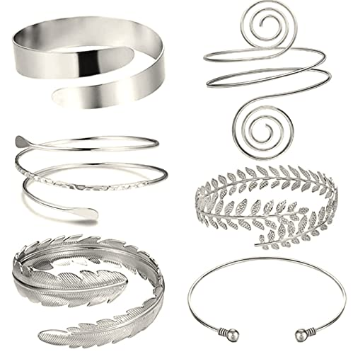 Miugwp Juego de 6 brazaletes apertura ajustable para mujeres mamá novia cumpleaños regalos de navidad