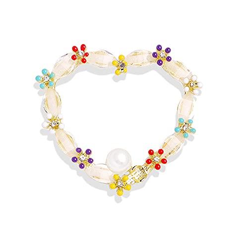 Boucle antireflet Broche Diamant Broche Bande Dessinée Strass Perle Broche Accessoire D (987)