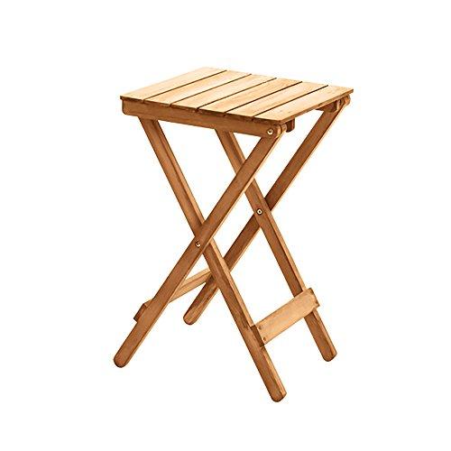 Table pliante réglable Table Basse en Bois Massif/Bureau d'ordinateur Pliant/Table décorative multifonctionnelle à la Maison / 35.5 * 35.5 * 60CM Peut être tourné (Couleur : A)