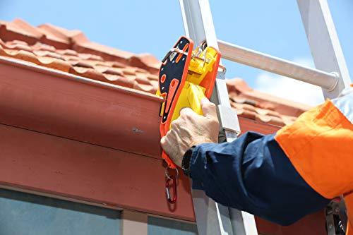 Lock Jaw Ladder Grip, (1 single unit) Ladder Stabilizer, Fits on Gutters in Seconds, Slide Lock, Rolling Safety Device, Ladder Gutter Clip