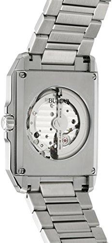 Bulova Men's Open Heart 96A194 Silver Stainless-Steel Japanese Automatic Dress Watch