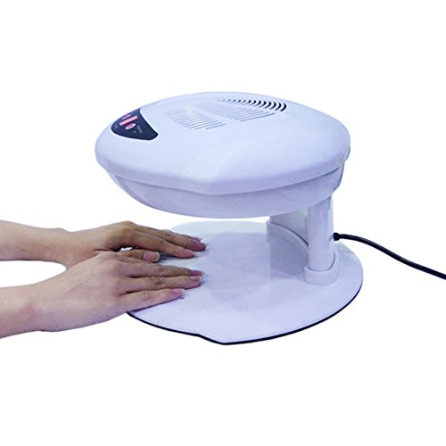 NACHEN Ambos Manos Uñas Ventilador Secador De La Máquina Salón Profesional Infrarrojos Automáticos Sensores Dobles Caliente Y Fresco Aire Brisa Para Secar Esmalte De Uñas Acrílico Uñas , white