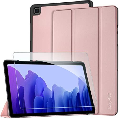 EasyAcc Hulle Kompatibel mit Samsung Galaxy Tab A7 104 2020 mit Panzerglas Ultra Dunn mit Standfunktion Slim PU Leder Smart Schutzhulle Kompatibel Galaxy Tab A7 104 2020 SM T500 T505 T507Rosa