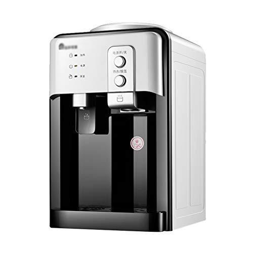 Dispensador de agua fría/Caliente Mini refrigerador pequeño Escritorio Bebida automática, para Oficina en el hogar Café Té Bar Dormitorio, 3 Modos (Dorado/Blanco)