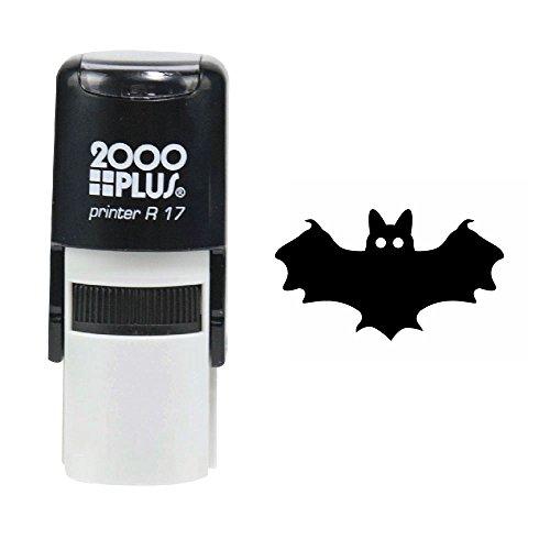 Bat 2000 Plus Self Inking Halloween Rubber Stamp - Black Ink