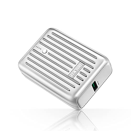 super holiday deals on zendure power banks and chargers Zendure Power Bank Supermini 10,000mAh USB-C 18W PD Portable Charger Credit Card Size Ultra-Small Fast Charging External Batteries for iPhone, Samsung Galaxy,Switch and More-Silver