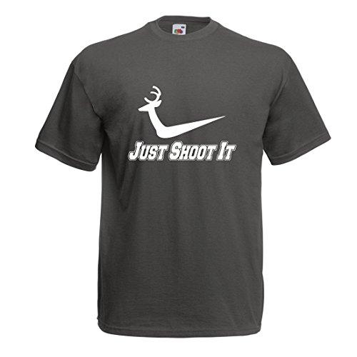 lepni.me Männer T-Shirt perfekte Jagdsaison Wear, lustige Schießen Zitate, jagen Liebhaber Geschenkideen, Hirschjäger Legende (X-Large Graphit Mehrfarben)
