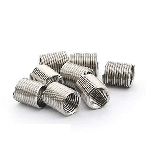 Inserción roscada 50 m6 * 1.0 * 2D Insertos de rosca de alambre de acero, insertos de hilo de alambre de acero inoxidable 304, arbustos de tornillo M6, insertos de hilo de alambre Herramientas de uso