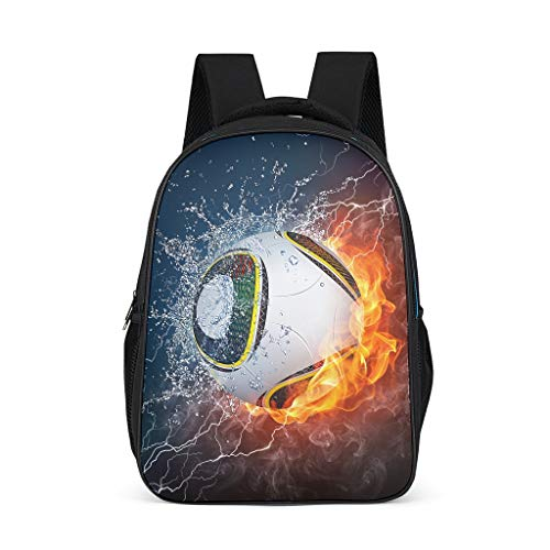 Casual Soccer Kids Backpack Large Capacity - Knapsack for Kindergarten Bright Gray OneSize