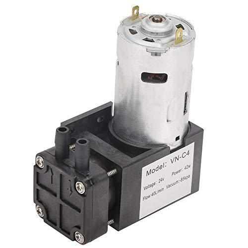 DC24V 40L / min Minivakuumpumpe, kleine ölfreie Vakuumpumpe -85KPa Durchfluss 40L / min für Gasluft