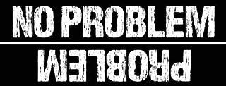 JR Studio 3x9 in No Problem Sticker - Decal Upside Down Fun Funny Problem car Bumper Vinyl Decal Sticker Car Waterproof Car Decal Bumper Sticker