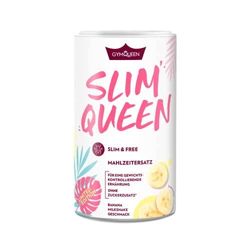 GymQueen Slim Queen Abnehm Shake 420g, Leckerer Diät-Shake, Mahlzeitersatz mit wichtigen Vitaminen & Nährstoffen, nur 250 kcal pro Portion & ohne Zucker-Zusatz, Limited Summer Edition Banana Milkshake