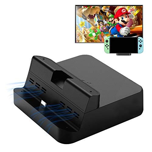 Switch Dock Switch portatile compatto Sostituzione del dock TV di ricarica, Adatto per Nintendo Switch, porta di alimentazione USB C, Supporto Samsung DeX, HUAWEI PC Modalità.