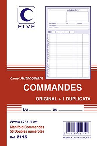 ELVE 44292 Manifold Autocopiant 140x 210mm Foliotage Maximum 50 Duplis-commandes Assorties