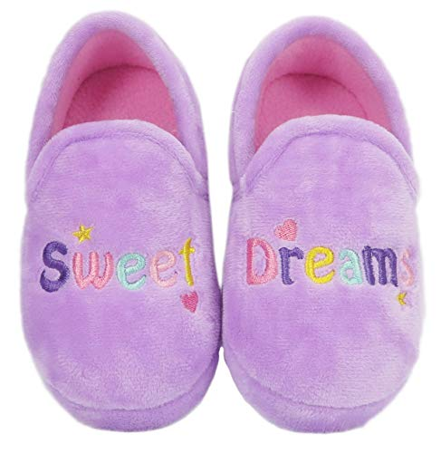 Wonder Nation Toddler Girls Sweet Dreams Plush Slippers Size 7/8 Lavender