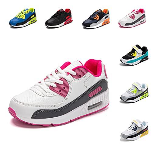 Zapatillas de Deporte Niños Niña Zapatos de Correr Deportivo Sneakers Running Caminar Exterior Transpirable Antideslizante Rosa 30 EU