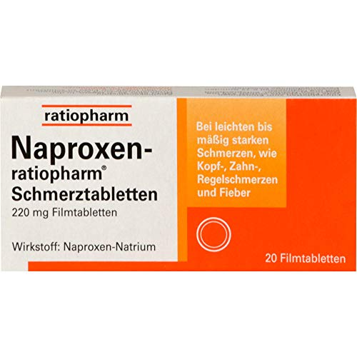 Naproxen-ratiopharm Schmerztabletten, 20 St. Tabletten