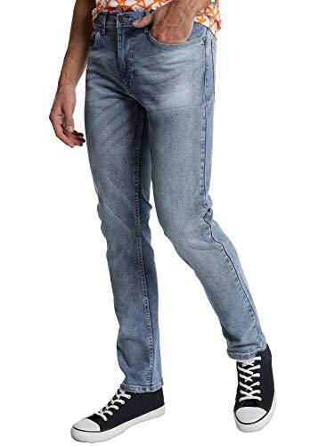 SIX VALVES - Pantalon Denim básico para Hombre - Confort, Tiro Medio   De algodón   Cierre con Cremallera   Tallaje en Pulgadas