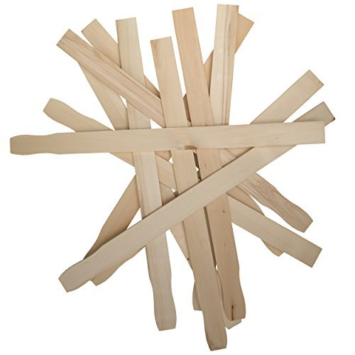 12 Inch Paint Sticks, Box of 50 Sanded Hardwood Paint Stirrers for Wax, Mix Epoxy, Resin or Kids Wood Crafts, Garden and Library Markers,12 Inch Paint Stir Paddle Sticks by Woodpeckers