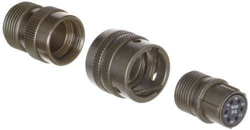 Amphenol Industrial PT06A-10-6S Circular Connector Socket, General Duty, Non-Environmental, Bayonet Coupling, Solder Termination, Straight Plug, 10-6 Insert Arrangement, 10 Shell Size, 6 Contacts